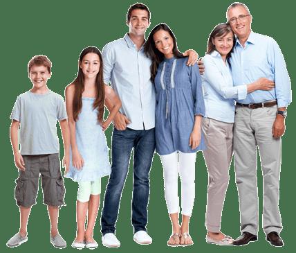 Happy Family Standing